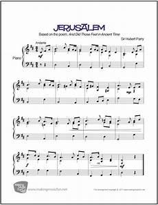 jerusalem sheet music for piano digital print sheet