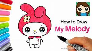 How To Draw My Melody Easy  Sanrio YouTube