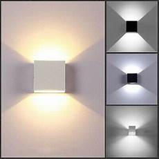 12w modern cob led wall light up down cube indoor outdoor sconce lighting l ebay