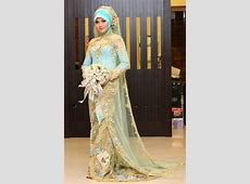 Long Sleeve High Neck Include Veil Gold Lace Muslim Arabic