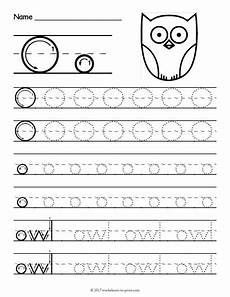 free printable tracing letter o worksheet tracing