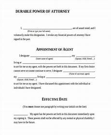 free downloadable durable power of attorney form free 24 printable power of attorney forms in pdf ms word