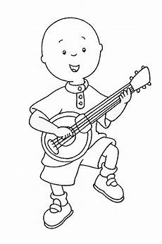 caillou coloring pages birthday printable