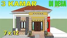 Desain Rumah Minimalis Modern Ukuran 7x12 Meter 3 Kamar