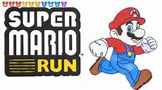 Malvorlagen Mario Run Speed Drawing Mario Run Drawing Coloring Pages