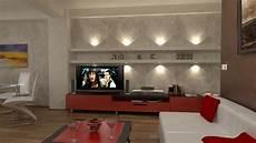wohnzimmer einrichten 3d bilder 3d interieur wohnzimmer rot wei 223 1