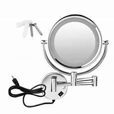 two sided led light bathroom swivel make up mirror