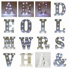 led light up alphabet letters white wooden free standing wall battery operated ebay