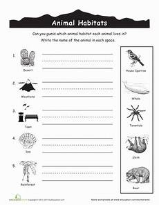 animals habits worksheets 13897 animal habitats for worksheet education