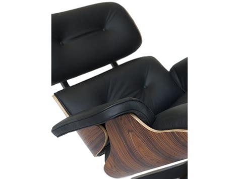 Poltrona Lounge Chair Con Pouff In Palissandro E Vera Pelle