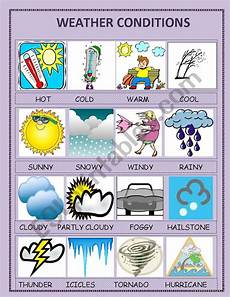 different weather worksheets 14532 weather conditions esl worksheet by ipek83