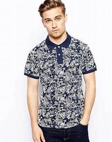 jones polo shirt with tonal floral print