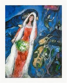 Marc Chagall Werke - marc chagall la mariee framed canvas giclee print 27 quot x33