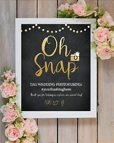 oh snap wedding instagram hashtag sign printable wedding art sign gold and black instagram