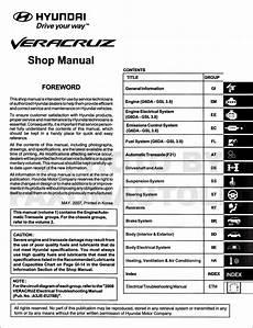 hyundai veracruz pdf workshop and repair manuals carmanualshub com 2008 hyundai veracruz repair shop manual original 2 vol set