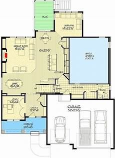 exclusive house plan with modest footprint and an indoor
