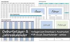 kostenlose geburtstagskalender zum ausdrucken pdf excel