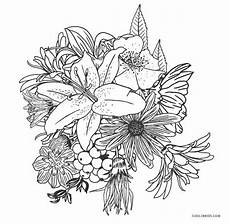 free printable flower coloring pages for