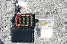Motorcycle Universal Fuse Box Replacement 4 Fuse Circuit