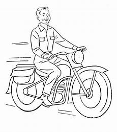 motorcycle coloring pages free printable for