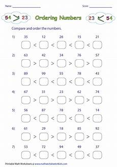 ordering numbers worksheets