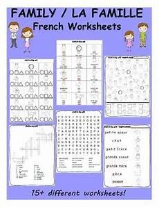 family la famille worksheets by vari lingual tpt