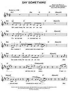 quot say something quot sheet music 42 arrangements available
