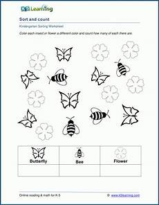 sorting and classification worksheets 7771 sort and count worksheets for preschool and kindergarten k5 learning