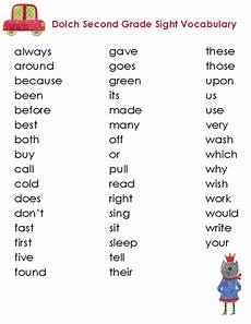 second grade dolch vocabulary kidspressmagazine com