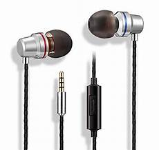 Zuzg Metal Noise Reduction Wired Earphone by Wired In Ear Metal Earphones Stereo Bass Headphones With