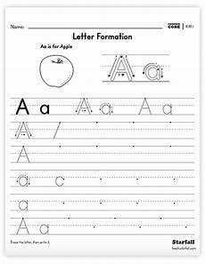handwriting worksheets letter formation 21462 starfall education free resources