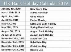 uk bank holidays calendar 2019 uk bank holiday national holidays uk holiday dates