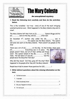 mystery worksheets the mary celeste mystery worksheet free esl printable worksheets made by teachers