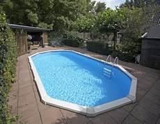 Stahlwandpool Oval Freistehend - 6 10 x 3 60 x 1 32 m stahlwandpool oval center pool