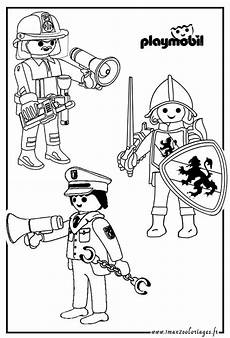 coloriage playmobil pompier