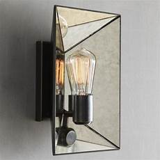 faceted mirror sconce modern wall sconces by west elm
