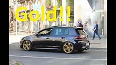 Vw Golf 6 R Gold Wheels W W Performance Exhaust