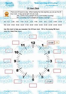 24 hour clock teach my kids