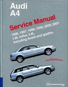 car repair manual download 2001 audi a4 electronic throttle control shop manual a4 service repair audi bentley book quattro vant 1 8 2 8l 1996 2001 ebay