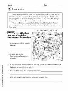worksheets time zone activities 3275 time zones worksheet for 5th grade lesson planet