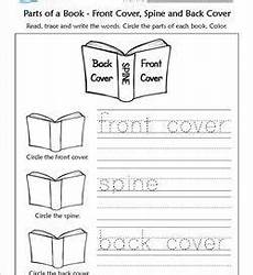 parts of a book kindergarten language arts a wellspring of worksheets
