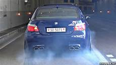 bmw m5 e60 with eisenmann race exhaust launches