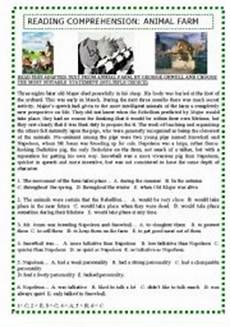 animal reading worksheets 14021 reading comprehension animal farm