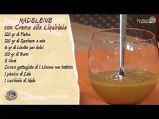 crema con due tuorli madeleine con crema alla liquirizia in due minuti youtube