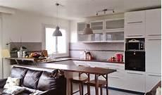 aménagement intérieur petit espace cuisine cuisine ouverte sur le salon pratique et