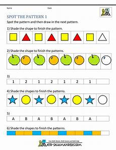 math worksheets on patterns for kindergarten 339 free kindergarten worksheets spot the patterns