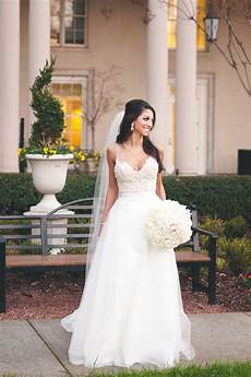 Real Brides 7 real brides wearing beautiful a line wedding dresses