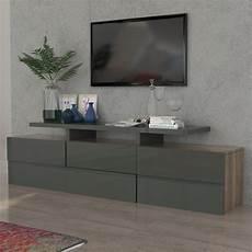meuble bois gris meuble tv gris laqu 233 et couleur bois novelo meuble tv