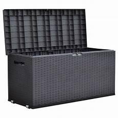 gartentruhe nizza rattan design rollbox auflagenbox kissen