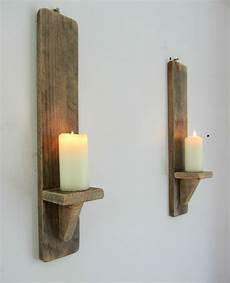 pair of 50cm reclaimed pallet shabby chic wall sconce